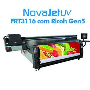Impressora UV FRT 3116 com cabeças Ricoh Gen5