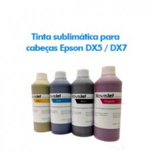 Tinta sublimática para cabeças Epson DX5 / DX7