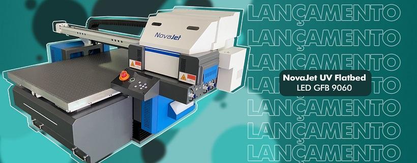 Impressora NovaJet UV Flatbed LED GFB 9060